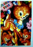 子供服 ※88モA※ ★ポスター★レトロなバンビ 花飾り