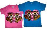 子供服 ※★ヤの★¥1900〜★双子のリスちゃん★:Tシャツ 80cm〜メンズまで「7XL」
