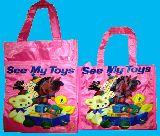 子供服 $※99RF※★ビニール素材 バッグ :「レトロアニマル:おもちゃ箱」ランチバッグ
