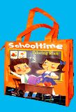 子供服 ◆88mARF※ ★ビニール素材 ランチバッグ :レトロ「スクールタイム」
