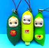 子供服 $※★88A★ 野菜キューピー わりと大きめストラップ