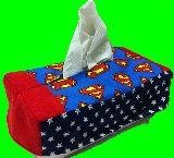 子供服 ※Am99TF ★スーパーマン:ロゴ  BOXティッシュケース