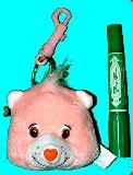 子供服 ♪$★RF88A★ 存在感ありあり!ケアベア 人形コインケース カラビナ付き