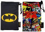 子供服 $※88ARF※  ★スマート巾着★ バットマン 「ロゴ」:「コミック」 スマホやメガネに♪