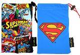 子供服 $※88ARF※  ★スマート巾着★ スーパーマン 「ロゴ」:「コミック」 スマホやメガネに♪