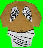 子供服 ●$※★88A★ ¥1500 だまし絵 おむつエンジェル 長袖ロンパース