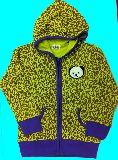 子供服 ●$88A ヒョウ柄 パンダワッペン付き ジップアップ:パーカー 120cm