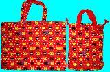 子供服 $※88ARF★ネコちゃん総柄 レッスンバッグ:シューズバッグ
