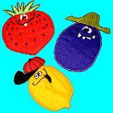 子供服 $※★RF88A★お野菜 アイロンワッペン いちご:なす:レモン「ヤミーズ」
