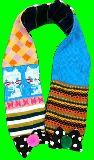 子供服 $※★ネコちゃん☆ リボン付き パッチワーク:マフラー 子供サイズ