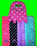 子供服 $RF99★マイクロファイバー:おばけちゃん♪ フェイスタオル カラー4種類あるよ〜
