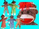 子供服 $◎※99ARF★ソックモンキー★お人形 キーホルダー 大きいから存在感ありですよ