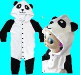 子供服 $RFA88★パンダちゃん★なりきりコスチューム ロンパース:70cm