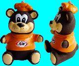子供服 ◆◆88NRAF★ファストフードチェーン店「A&W」のキャラクター:グレートルートベアの貯金箱バンク