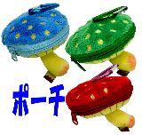 子供服 $◎※88モAR★「キノコノクニ」 カラビナ付きポーチ カラー3種類あるよ〜