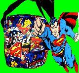 子供服 $※88ノRA ★スーパーマン:コミック総柄 ショルダーバッグ S