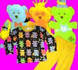 子供服 $カラフル:くまちゃん 長袖パジャマ クロ 80から150cmまで