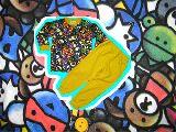子供服 $A★まるっこアニマル:総柄 キルト:長袖パジャマ キイロ 80から150cmまで