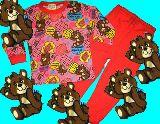 子供服 99A$ クマちゃん:ポップ柄 長袖パジャマ 90・95・100・130cm