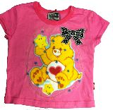 子供服 ♪A88RF$ ケアベアちゃん リメイクTシャツ:ピンク 80cm