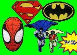 子供服 ★RF88A★アメキャラ アイロンワッペン:スパイダーマン:スーパーマン