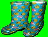 子供服 ●※99NRA※ 長靴:ヒヨコ 15cm 総柄
