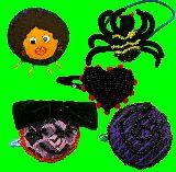 子供服 $ヘアピン:ヘアゴム 蜘蛛:ハートなど