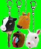 子供服 ◆$◎※クARF ★リアル〜〜:牛:うさぎ:馬: キーキャップ