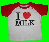 子供服 $※99RA ●80:90cm アイラブ:ミルクのTシャツ¥1200