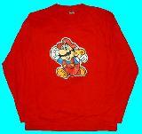 子供服 $※99ARF ●スーパーマリオ ロンT:アカ メンズLサイズ