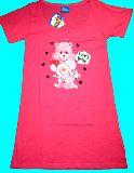 子供服 ♪$●★A99RF★ ケアベアの ワンピース ショッキングピンク:レディースSサイズぐらい