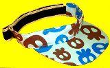 子供服 $9ATf☆ドクロ総柄 サンバイザー ★52〜56cm★ 水色