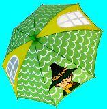 子供服 $※99NRAF ★子供用★傘 スナフキン 「窓の部分で前が見えやすい!]