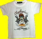 子供服 ●RF88A$エドハーディー★ヘルメット:ドクロ☆Tシャツ シロ 110・130cm