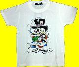 子供服 ●$99ARF ★エドハーディー☆★★ハット:ドクロ☆ Tシャツ シロ 110・120・130cm