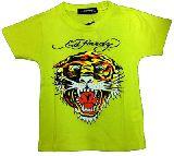 子供服 ●$88ARF★エドハーディー☆★トラ:顔アップ☆ Tシャツ グリーン ・120・130cm
