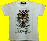 子供服 ●$88ARF★★エドハーディー トラ☆ Tシャツ シロ 110・120・130cm