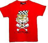 子供服 ●$88AFR★エドハーデイー トラ☆ Tシャツ アカ 110・120・130cm
