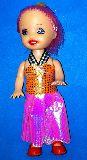 子供服 ◆$※88A★バービーちゃんみたい♪ お人形 バッヂ