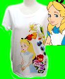 子供服 $※88ノA ★不思議の国のアリス★レディースサイズTシャツ
