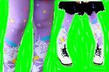 子供服 $※99NRAF ★大人サイズ★ レギンス 乙女系♪ポニー