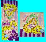 子供服 $※99RノAF★ディズニー★ラプンツェル★ハンドタオル:フェイスタオル