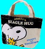 子供服 $※99RANF ★マチ付き コットンバッグ ランチバッグに最適!スヌーピー&ウッドストック