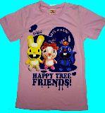 子供服 ●$RF99A ★ハッピーツリーフレンズ☆3人 Tシャツ ピンク 140・150cm