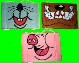 子供服 $※88RFA ★花粉症も防げるよ!おもしろマスク♪ ブタ・ネズミ・ワンコ