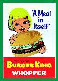子供服 ▽♪F;88RA★バーガーキング★BURGER KING★B4サイズ  ポスター