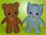 子供服 ◆$RF99A★レトロな動物人形♪ シルバニアのようで そうでない・・