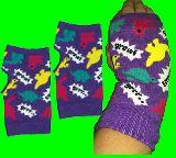 子供服 $※99RA ★恐竜★指ナシ手袋・リストバンド★グローブ