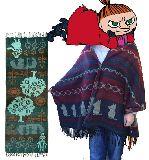 子供服 $※99NRAF ★ミイ&スナフキン 可愛いストール・ポンチョ・マフラーにも「青」