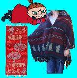 子供服 $※99NRAF ★ミイ&スナフキン 可愛いストール・ポンチョ・マフラーにも「赤」